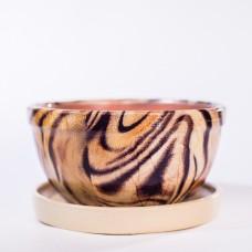 Горшок глазурованный керамический (252-63н ангоб)